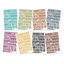 Simple Stories Sn@p Alphabet Stickers 648 pieces (8 sheets) Bolds Color Vibe