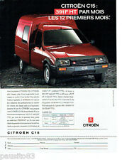 PUBLICITE ADVERTISING 046  1991  Citoen le fourgon C15