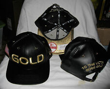 USA RIO OLYMPICS GOLD STARRED UP BLACK LEATHER NEW ERA 9FIFTY STRAPBACK HAT NWT