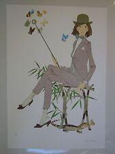 Philippe Noyer   ** Le Lézard **  serigraph on deckle edge watercolor paper