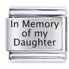 In memoria di mia figlia-DAISY CHARMS accoppiamenti Classic Taglia Italiana Bracciale con Charm