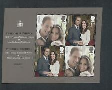 GB 2011 ROYAL WEDDING WILLIAM AND KATE MINIATURE SHEET