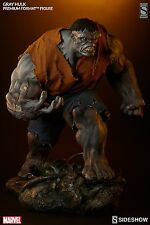 SIDESHOW EXCLUSIVE Grey HULK PREMIUM FORMAT FIGURE STATUE Retro Shirt Red Bust