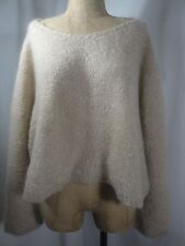 ANNE KLEIN Over Sized Boxy wool/mohair Blend Soft Sweater Size Small