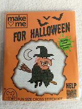 MOUSELOFT CROSS STITCH KIT ~  MAKE ME FOR HALLOWEEN ~ WITCH ~ NEW