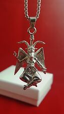 *NEW Church of Satan BAPHOMET Pendant Necklace 316L Stainless w/ Chain