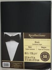 Recollections Black Cardstock Paper 65 lb. 50 sheet pack 8.5 x 11 in.