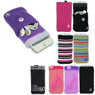 Clean It Sock Case Cover With Earphone Pouch Bag For Mobile Phones/iPod/MP3