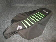 Kawasaki KXF250 2009-2012 Black/Green enjoy ribbed gripper seat cover EJ3027