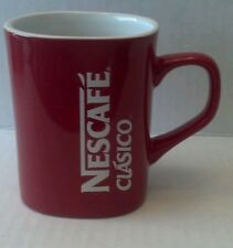 "NESCAFE COFFEE Mug Cup NIB RED  3.5"" Tall Nestle RARE Collectors NEW!"