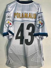 Reebok NFL Jersey Pittsburgh Steelers Troy Polamalu White Super Bowl 45 sz L