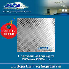 Prismatic Diffuser Panel Clear 600 x 600mm. Suspended Ceilings. Box of 10