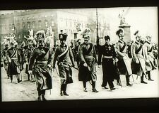 KAISER WILHELM II MARCHING IN PARADE Glass Slide Photo 5x5 cm
