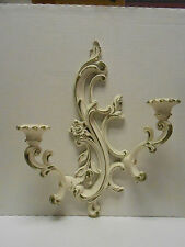 Ornate Syroco Shabby Chic Candle  Holder Sconce holds two candles