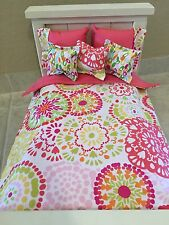 American Girl Lea Inspired 18 Inch Doll Bedding  6 Piece Set Flower Burst