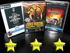 OFFERTA STOCK 3 GIOCHI NUOVI PC DUKE NUKEM DOOMSDAY BLAK AND WHITE ITA STOCK183
