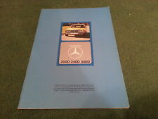 Dec 1975 / 1976 MERCEDES BENZ 200D 240D 300D SALOON W123 UK 30pg BROCHURE