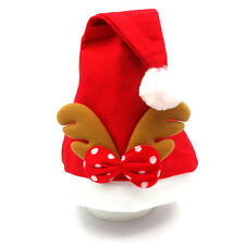 Unique Bright Red bowknot Christmas Party Decor Coiffe Belle Père Noël Hat