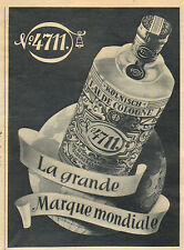 EAU DE COLOGNE N° 4711 KOLN ADVERTISING PUBLICITE 1954
