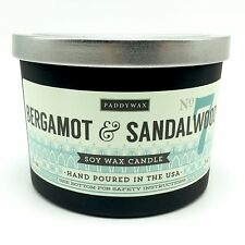 Paddywax Bergamot Sandalwood Soy Wax Candle Triple Wick 12 Ounces