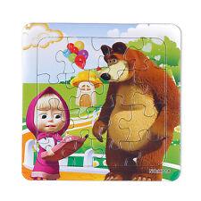 1 PCS Jigsaw Puzzles Education Toys Masha & Bear Toys for Boys & Girls Ages 3+/A