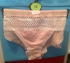 MARKS AND SPENCER - SIZE 12 - THE BRAZILIAN - CREAM