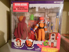 Retro-Action REAL GHOSTBUSTERS JANINE SAMHAIN 2-PACK with Slimer, firehouse