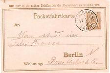 Berlin Privatpost Packetfahrt 2 Pfg. Ganzsache gebraucht 1891 in Berlin