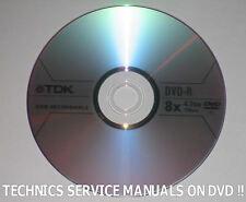 TECHNICS SERVICE MANUAL RECEIVER TUNER AMP REPAIR STEREO AMPLIFIER  DVD