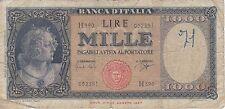 BIGLIETTO DI BANCA DI ITALIA 1000 LIRE ANNO 1961 (RARE)