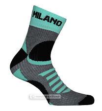 BIANCHI MILANO ORNICA TALL WINTER CYCLING SOCKS : BLACK/CELESTE S/M (38-42)