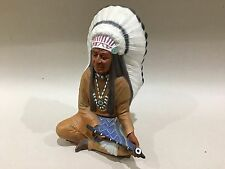 Native American Chief Ceramic Figurine