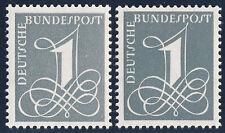 BUND 1958/1960, MiNr. 285 X und 285 Y II, postfrisch, gepr. Schlegel, Mi. 22,-