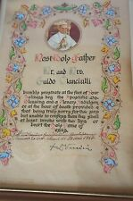 SALE!!! FRAMED PAPAL BLESSING: POPE PAUL VI 1967