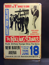 THE ROLLING STONES NEW HAVEN ARENA VINTAGE STYLE METAL WALL SIGN  20X30 CM