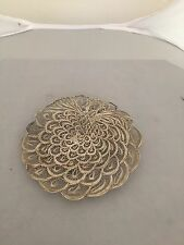 BEAUTIFUL CHINESE FILIGREE 925 SILVER PEACOCK DISH WITH ORIGINAL RECEIPT