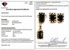 GREAT CHRISTMAS GIFT RING, PENDANT EARRINGS W/ Certificate 1,350 Value