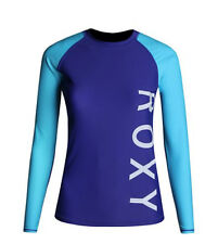 NEW! AUTHENTIC WOMEN'S LONG SLEEVE RASHGUARD SWIMWEAR (BLUE/AQUA, SIZE MEDIUM)