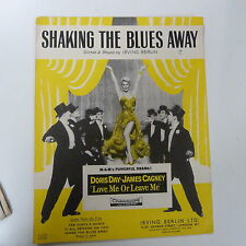 "song sheet SHAKING THE BLUES AWAY Irving Berlin Doris Day""love me leave me"" 1927"
