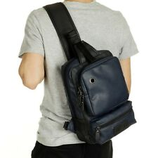 Men's Leather Chest Pack Shoulder Bag Backpack Sports Satchel Sling Bag Riding
