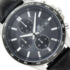 CASIO EDIFICE Chronograph 100M EFR512L-8AV EFR-512L-8AV Leather Free Ship!