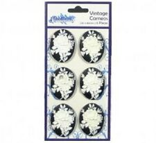 Creative Expressions VINTAGE CAMEOS EMBELLISHMENTS Flatbacked 6 pieces 30 x 40mm