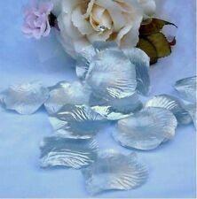 120 Pétales de ROSES Tissu ARGENT Décoration Table Mariage Baptême fête