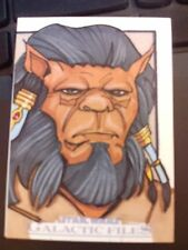 2012 Star Wars Galactic Files 1 Bothan Color Sketch Card by Pablo Diaz 1/1