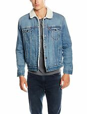 Levi's Men's TYPE 3 SHERPA TRUCKER Jacket Blue (Q4330 BUCKMAN 29) Large New