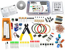 ELECTRONIC COMPONENTS KIT/ULTIMATE DIY KIT (300+ PARTS WITH BREADBOARD & WIRES)