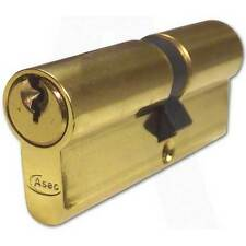 Asec(Yale Style) 5 Pin Euro Cylinder Polished Brass 90mm 45/45 Lock UPVC Door