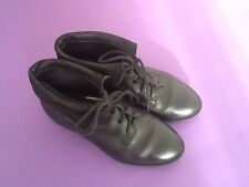 womens black laced boots size 37 or 4 UK black boots low heel size 4 UK