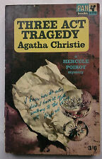 AGATHA CHRISTIE.THREE ACT TRAGEDY.HERCULES POIROT.1ST/2 SB 1964,PAN X275,ORIG 35