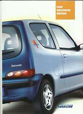 FIAT SEICENTO BRUSH SPECIAL EDITION SALES BROCHURE 2001 GERMAN LANGUAGE